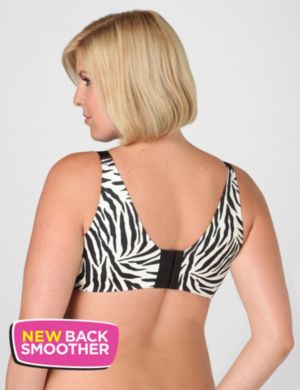 Serenada® Back-Smoother No-Wire Zebra Bra