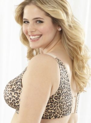 Serenada Leopard No-Wire Back-Smoother Bra
