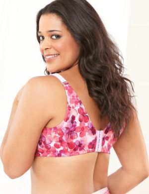 Serenada® Back-Smoother No-Wire Floral Bra