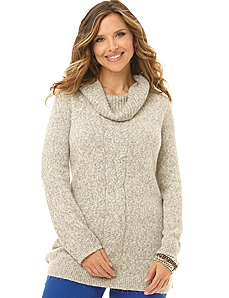 Cable Cowlneck Sweater