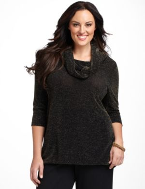 Luminous Slinky Knit Tunic