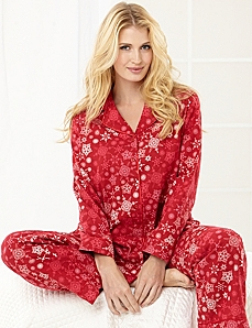 Snowflake Flannel Pajama Set by Catherines