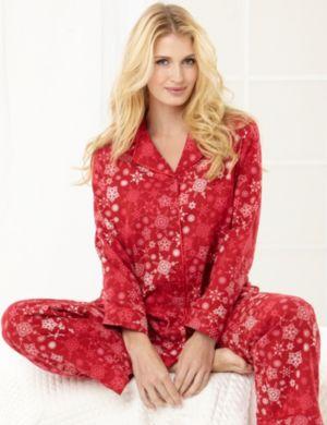 Snowflake Flannel Pajama Set