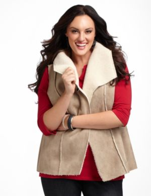 Shearling Sueded Vest