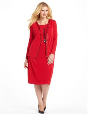 Tinsel Trim Jacket Dress