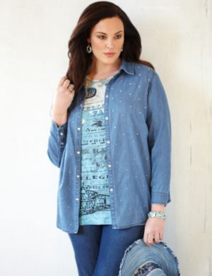 Denim Diamond Shirt