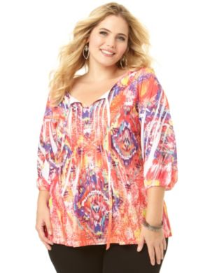 Colorblast Peasant Top