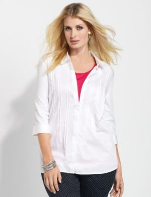 Sateen Pintuck Shirt