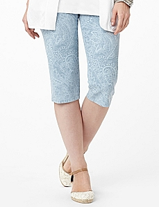 Illusive Denim Capri by CATHERINES