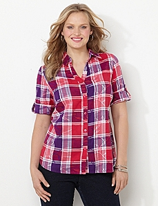 Peaceful Plaid Shirt