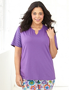 Color Happy Sleep Tee by CATHERINES