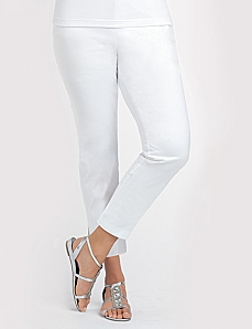 Cotton Sateen Capri by CATHERINES