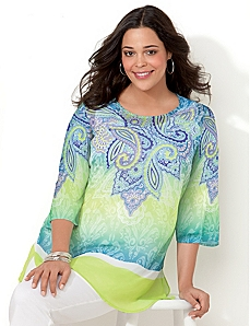 Paisley Dream Tunic by CATHERINES