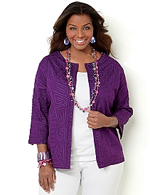 Textured Soutache Jacket