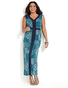 Medallion Print Maxi by CATHERINES