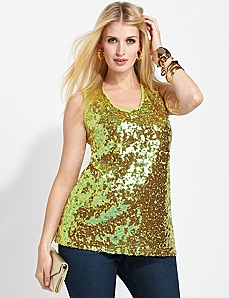 Sequin Shimmer Tank by CATHERINES