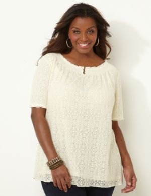 Lace Henley Peasant