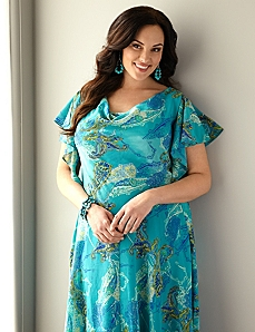 Paisley Flutter Dress