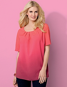 Ibiza Ombre Blouse by CATHERINES