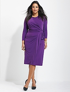Athena Draped Dress by CATHERINES