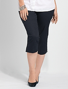 Polka Dot Sateen Capri by CATHERINES