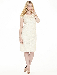 Pop Of Lace Dress by CATHERINES