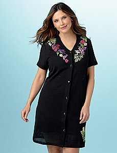 Mesh Embroidered Cover-Up by CATHERINES