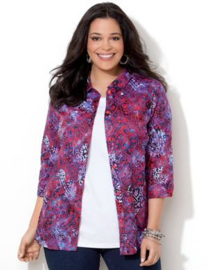 Paisley Buttonfront Shirt