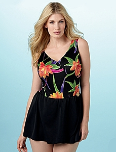 Beach Bloom Swimdress by CATHERINES