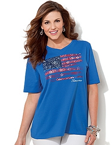 Heritage Flag Tee by CATHERINES