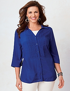 Nantucket Pintuck Shirt by Catherines