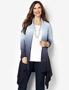 Soft Ombre Cardigan by CATHERINES