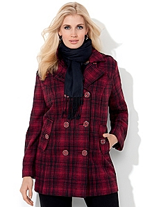 West Vail Plaid Peacoat by CATHERINES