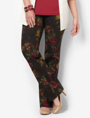 Slimmer Classic Rose Print Jean