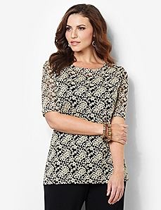 Enchanted Lace Duet Top by CATHERINES
