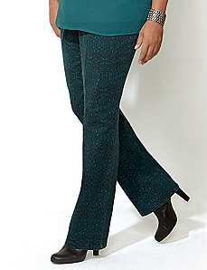 Slimmer Classic Medallion Print Jean by CATHERINES