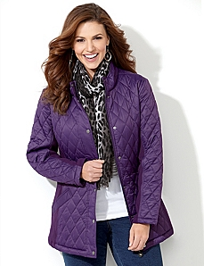 East Side Quilted Coat by CATHERINES