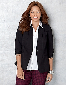 Bi-Stretch Blazer by CATHERINES