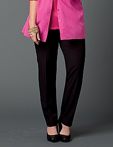Slim Leg Pinstripe Jayne Pant by CATHERINES
