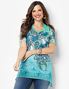 Paisley Spice Top by CATHERINES