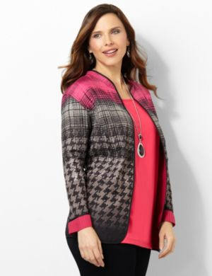 Houndstooth Reversible Jacket