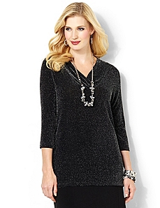 Sparkle V-Neck by CATHERINES