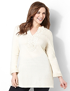 Delicate Crochet Tunic by CATHERINES