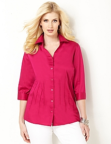 Radiance Sateen Shirt by CATHERINES