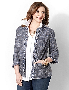 Fringed Jacket by CATHERINES