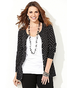 Polka Dot Snap Cardigan by CATHERINES