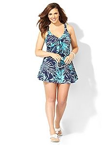 Palm Glitz Swimdress by CATHERINES