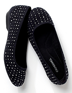 Studded Ballet Flats by CATHERINES