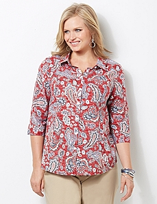 Coastline Paisley Top