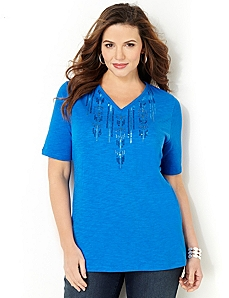Raindrop Sequins Top
